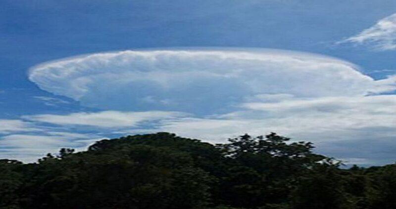 UFO cloud formation